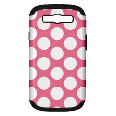 Pink Polkadot Samsung Galaxy S Iii Hardshell Case (pc+silicone) by Zandiepants