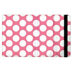 Pink Polkadot Apple Ipad 3/4 Flip Case by Zandiepants