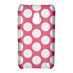 Pink Polkadot Nokia Lumia 620 Hardshell Case by Zandiepants