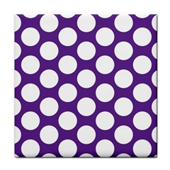 Purple Polkadot Ceramic Tile by Zandiepants