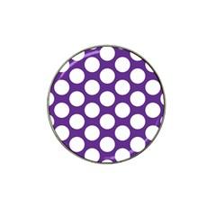 Purple Polkadot Golf Ball Marker (for Hat Clip) by Zandiepants