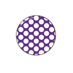 Purple Polkadot Golf Ball Marker 4 Pack (for Hat Clip) by Zandiepants