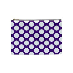 Purple Polkadot Cosmetic Bag (medium) by Zandiepants