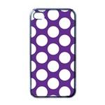 Purple Polkadot Apple iPhone 4 Case (Black) Front