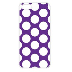 Purple Polkadot Apple Iphone 5 Seamless Case (white) by Zandiepants