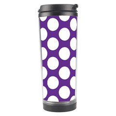 Purple Polkadot Travel Tumbler by Zandiepants