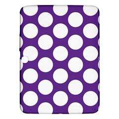 Purple Polkadot Samsung Galaxy Tab 3 (10 1 ) P5200 Hardshell Case  by Zandiepants