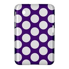 Purple Polkadot Samsung Galaxy Tab 2 (7 ) P3100 Hardshell Case  by Zandiepants