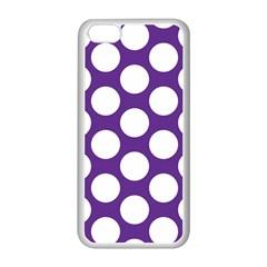 Purple Polkadot Apple Iphone 5c Seamless Case (white)