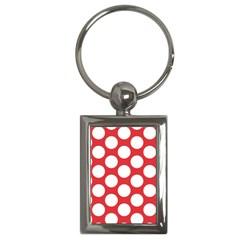 Red Polkadot Key Chain (rectangle) by Zandiepants