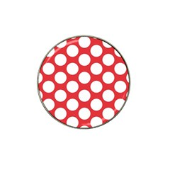 Red Polkadot Golf Ball Marker 4 Pack (for Hat Clip) by Zandiepants