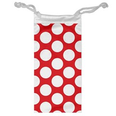 Red Polkadot Jewelry Bag by Zandiepants