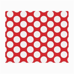 Red Polkadot Glasses Cloth (small, Two Sided)