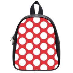 Red Polkadot School Bag (small) by Zandiepants