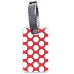 Red Polkadot Luggage Tag (one Side) by Zandiepants