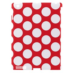 Red Polkadot Apple Ipad 3/4 Hardshell Case (compatible With Smart Cover) by Zandiepants