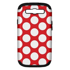 Red Polkadot Samsung Galaxy S Iii Hardshell Case (pc+silicone) by Zandiepants