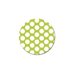 Spring Green Polkadot Golf Ball Marker 10 Pack by Zandiepants