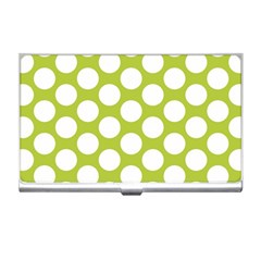 Spring Green Polkadot Business Card Holder by Zandiepants
