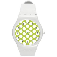 Spring Green Polkadot Plastic Sport Watch (medium) by Zandiepants