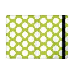Spring Green Polkadot Apple iPad Mini Flip Case by Zandiepants