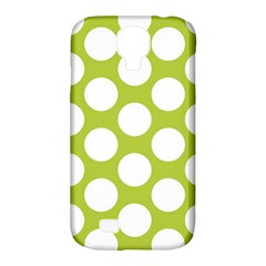 Spring Green Polkadot Samsung Galaxy S4 Classic Hardshell Case (pc+silicone) by Zandiepants