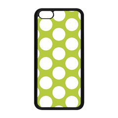 Spring Green Polkadot Apple Iphone 5c Seamless Case (black) by Zandiepants