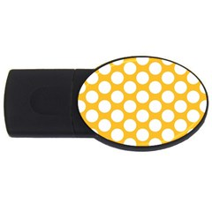 Sunny Yellow Polkadot 2GB USB Flash Drive (Oval) by Zandiepants