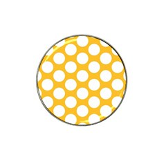 Sunny Yellow Polkadot Golf Ball Marker (for Hat Clip) by Zandiepants