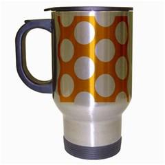 Sunny Yellow Polkadot Travel Mug (silver Gray) by Zandiepants