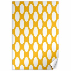 Sunny Yellow Polkadot Canvas 20  X 30  (unframed) by Zandiepants