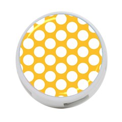 Sunny Yellow Polkadot 4 Port Usb Hub (one Side) by Zandiepants