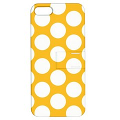 Sunny Yellow Polkadot Apple Iphone 5 Hardshell Case With Stand by Zandiepants