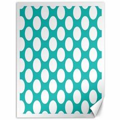 Turquoise Polkadot Pattern Canvas 36  x 48  (Unframed) by Zandiepants