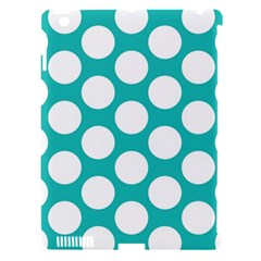 Turquoise Polkadot Pattern Apple Ipad 3/4 Hardshell Case (compatible With Smart Cover) by Zandiepants
