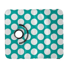 Turquoise Polkadot Pattern Samsung Galaxy S  Iii Flip 360 Case by Zandiepants
