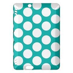 Turquoise Polkadot Pattern Kindle Fire Hdx 7  Hardshell Case by Zandiepants