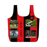 Black and Red (any team) Recycle Bag (M) - Full Print Recycle Bag (M)