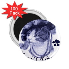 Miss Kitty Blues 2 25  Button Magnet (100 Pack) by misskittys
