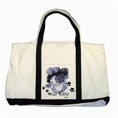 Miss Kitty blues Two Toned Tote Bag by misskittys