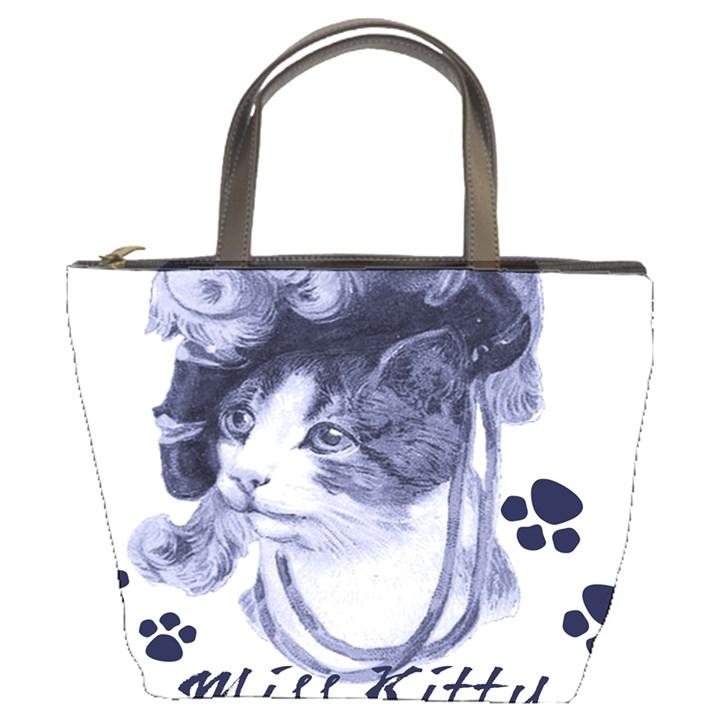 Miss Kitty blues Bucket Handbag