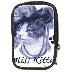 Miss Kitty blues Compact Camera Leather Case by misskittys