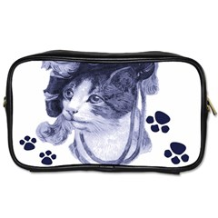 Miss Kitty Blues Travel Toiletry Bag (two Sides)
