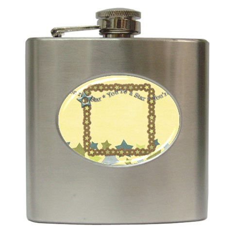 Flask Star 2 By Shelly   Hip Flask (6 Oz)   Ljkckgu17nol   Www Artscow Com Front
