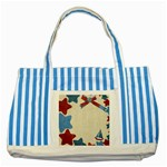 star tote - Striped Blue Tote Bag