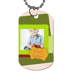 Easter By Easter   Dog Tag (two Sides)   88ynkk7wsxcq   Www Artscow Com Front