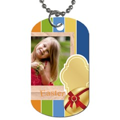 Easter By Easter   Dog Tag (two Sides)   Yawh68eqpi0e   Www Artscow Com Back