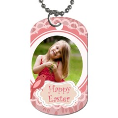 Easter By Easter   Dog Tag (two Sides)   Splwablmvlgy   Www Artscow Com Front