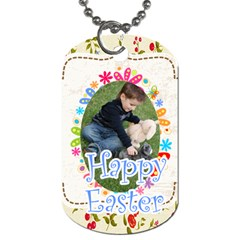 Easter By Easter   Dog Tag (two Sides)   Olz2cfitjmia   Www Artscow Com Back