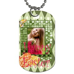 Easter By Easter   Dog Tag (two Sides)   4vegs9qoxdd9   Www Artscow Com Front